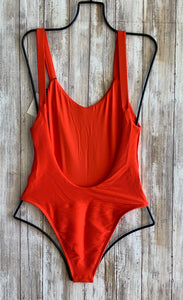 Vitamin A Swimwear x Fred Segal 'Louise' One Piece in Poppy BioRib