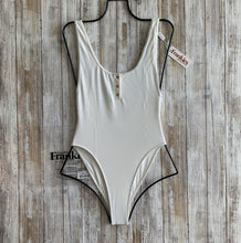 Frankie's Bikinis 'Daphne' Cheeky One Piece in White Rib