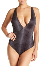 Tavik Swimwear Drew One Piece in Black Percy Dot