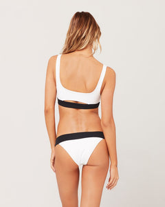 L*Space Swimwear 'Ariel' Bikini Top in Black White