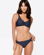 L*Space Swimwear 'C'est La Vie' Bikini Top in Antique Denim