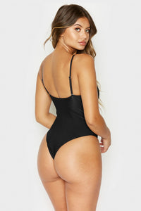 Frankie's Bikinis 'Flash' High Leg One Piece in Black
