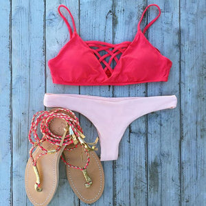 L*Space Swimwear 'Jaime' Bikini Top in Hot Cherry