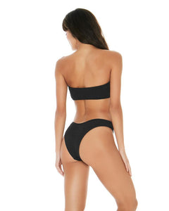 L*Space Swimwear 'Kristen' Bandeau Bikini Top in Black