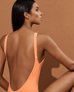 Vitamin A Swimwear 'Leah' One Piece in Nectar Refresh Rib