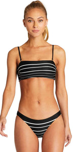 Vitamin A Swimwear 'Luciana' Full Bikini Bottom in Midnight Stripe