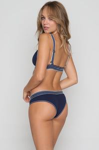 Agua Bendita Navegante Bikini Bottom in Navy