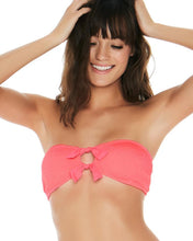 L*Space Swimwear 'Kristen' Bandeau Bikini Top in Neon Pink
