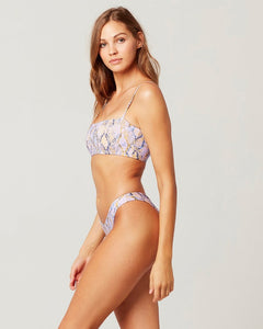 L*Space Swimwear 'Rebel' Bikini Top in Serpentina