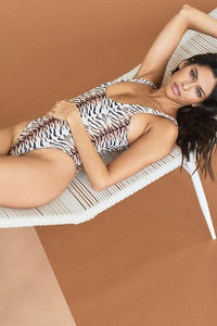 Acacia Swimwear Palm Springs One Piece in Tiger