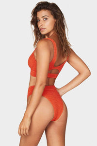 BOUND BY BOND-EYE 'THE SAVANNAH' HIGH WAIST BIKINI BOTTOM in LE TIGRE