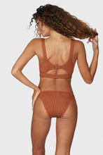 BOUND by Bond-Eye 'THE SASHA' Crop Bikini Top in Bronzed Up