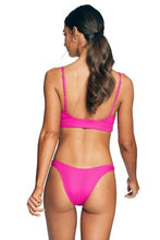 Vitamin A Swimwear 'California High Leg' Bikini Bottom in EcoRib Magenta
