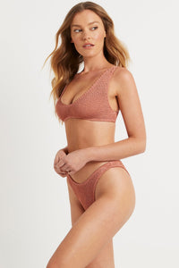 BOUND by Bond-Eye 'THE SCOUT' Crop Bikini Top in Coffee Cream