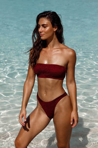 BOUND BY BOND-EYE 'THE SCENE' BIKINI BOTTOM in GARNET