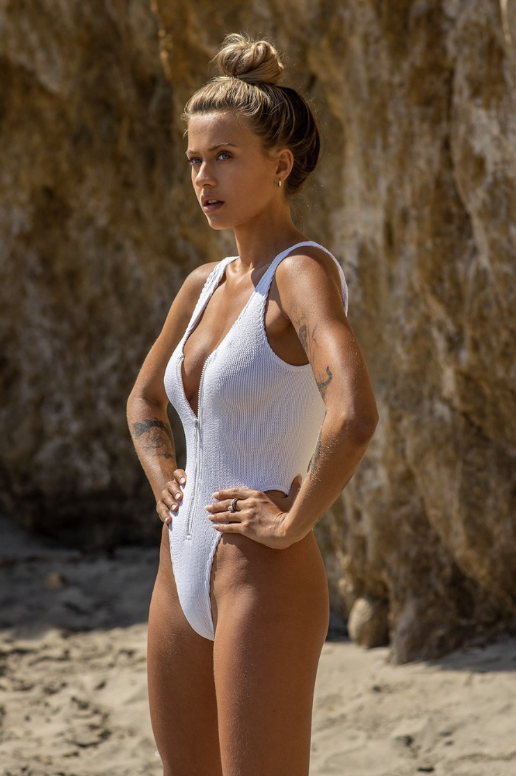 BOUND by BOND-EYE 'THE MOTO' ONE PIECE in OPTIC WHITE