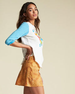 Billabong x Sincerely Jules 'Short And Free' Skirt in Mango
