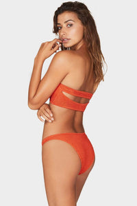 BOUND by BOND-EYE 'THE SEEKER' BANDEAU BIKINI TOP in LE TIGRE