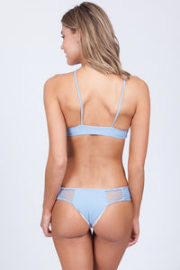 Acacia Swimwear Malibu Bikini Top in Sky Blue