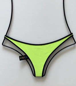 Indah Swimwear 'Vesper' Neoprene Bikini Bottom  in Lemon/Black