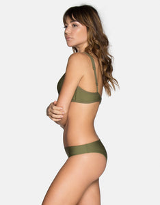 Tavik Swimwear Ribbed Ali Bikini Bottom in Olive