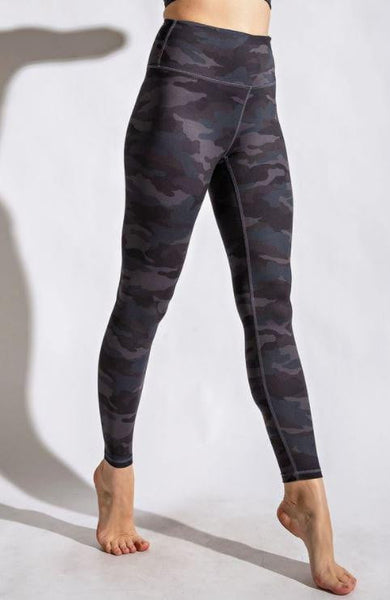 """Butter"" Leggings - Gray Camo"