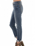 Judy Blue Medium Wash Distressed Boyfriend Jean