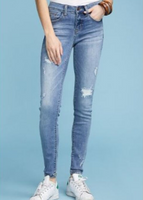 Judy Blue Distressed Light Wash Skinny Jeans