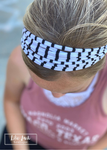 Game Day White & Black Stripe Headband - Dona Bela Shreds