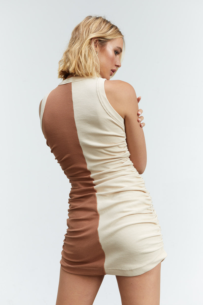 Sovere Mira Splice Mini Tank Dress