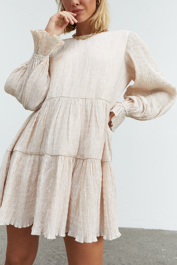 Sovere Asher Smock Dress Parchment