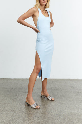 Sovere Incline Midi Dress Powder Blue
