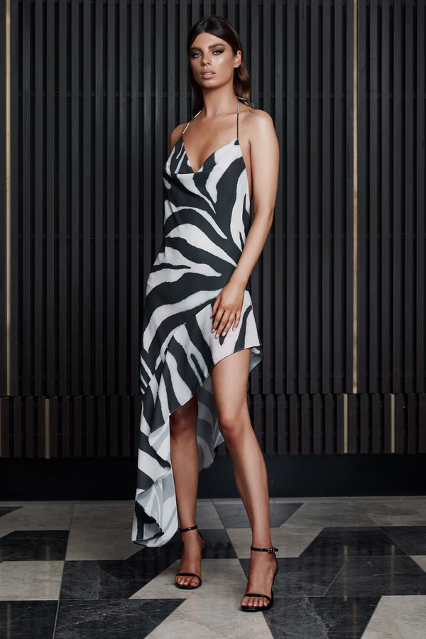 Derma Leila Dress Zebra Print