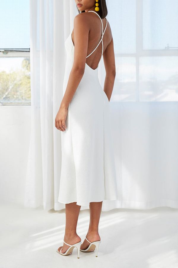 By Johnny Mia Cross Back Bias Midi Dress