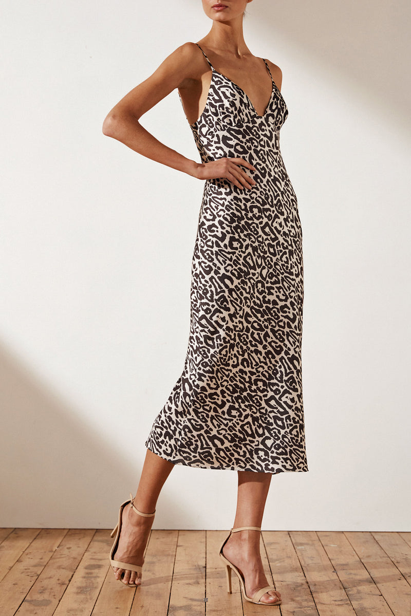 Shona Joy Isabella Bias Slip Midi Dress