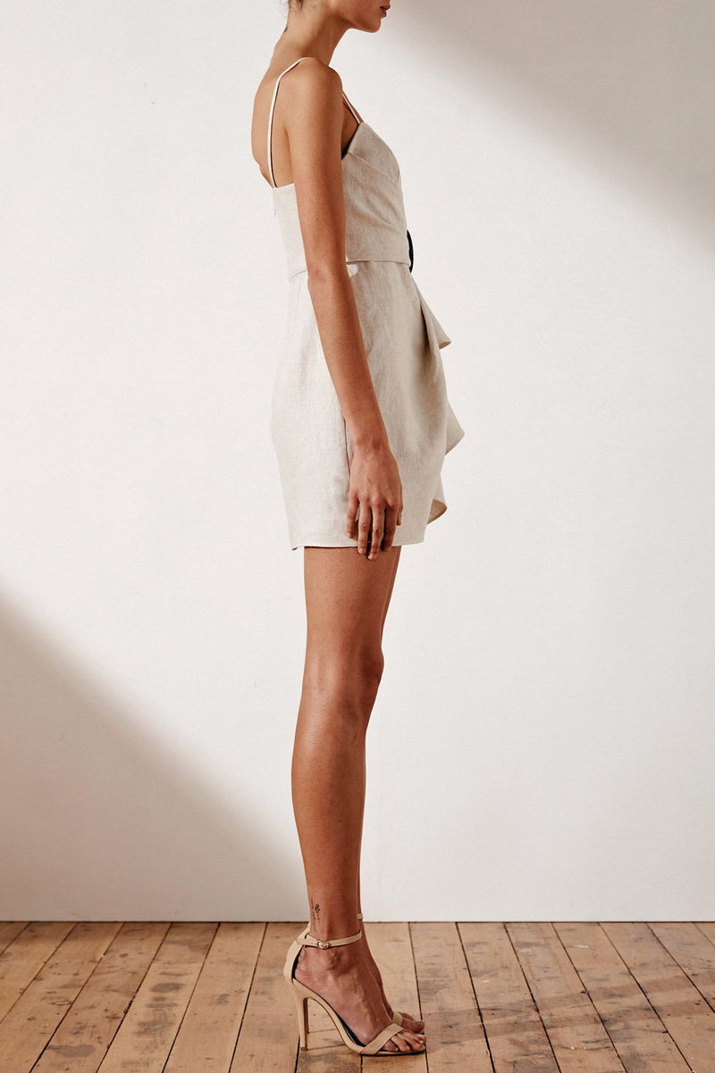 Shona Joy Aluaro Draped Mini Dress