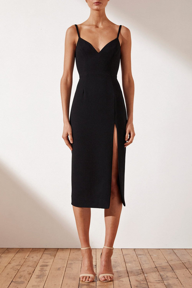 Shona Joy Andrea Fitted Cocktail Dress w Belt
