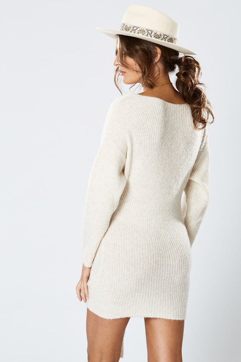 Winona Caribou Knot Dress Oatmeal