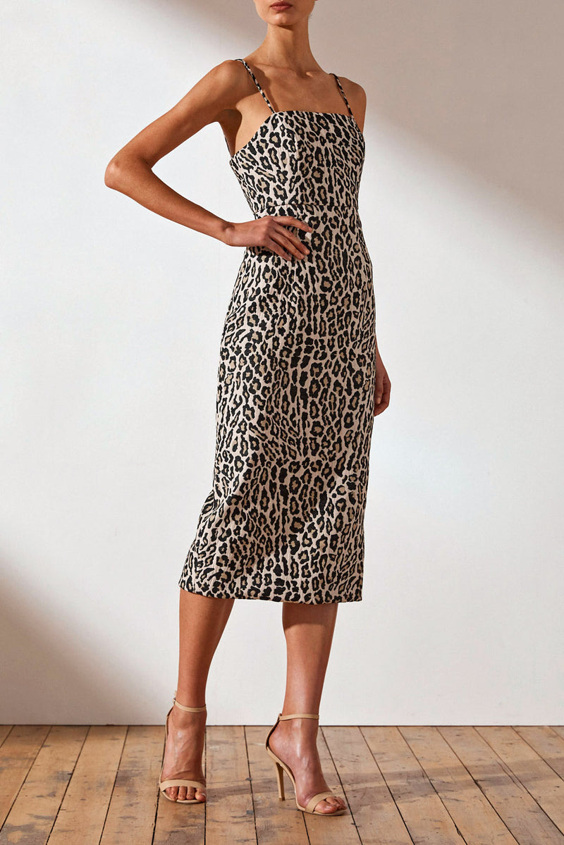 Shona Joy Ziggy Fitted Midi Dress