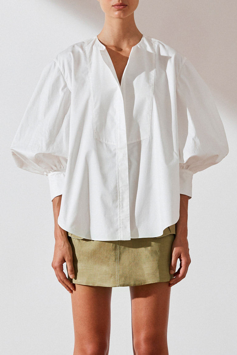 Shona Joy Drake Balloon Sleeve Shirt