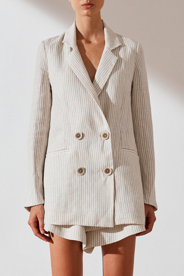 Shona Joy Shaw Relaxed Double Breasted Blazer