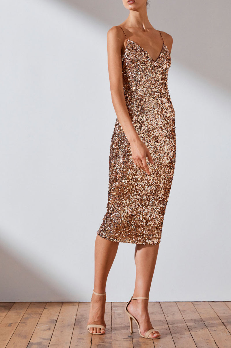 Shona Joy Faye Cocktail Midi Dress