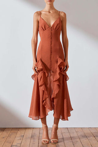 Shona Joy Charlotte Cocktail Midi Dress