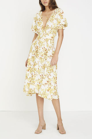 Faithfull Rafa Midi Dress Goldie Floral