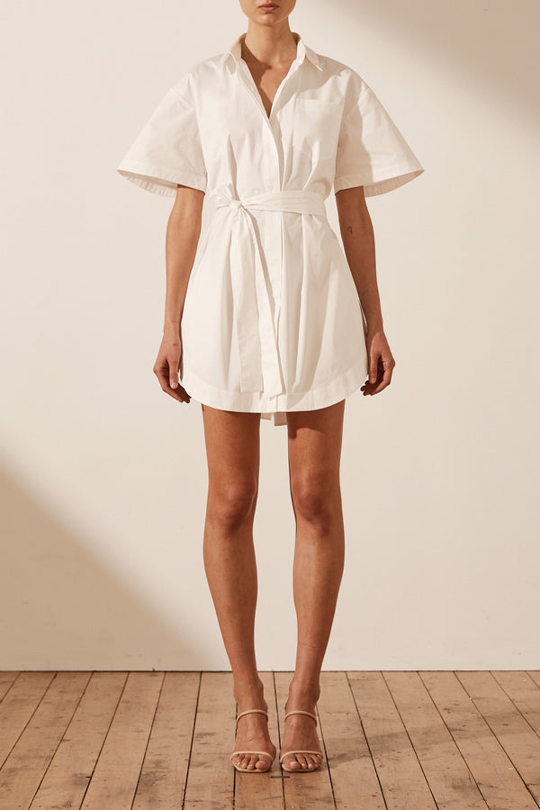 Shona Joy Amaia Shirt Dress With Tie