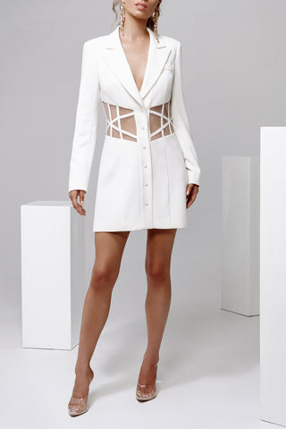 Derma Department Alexis Blazer Dress White
