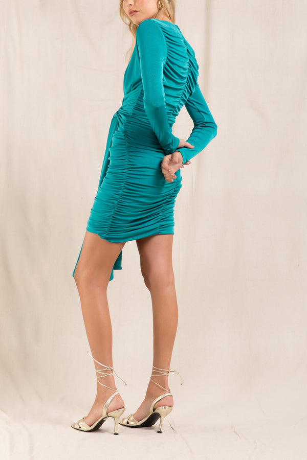 Misha Paola Dress Emerald