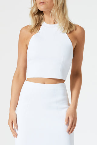 San Sloane Drew Racer Back Top White