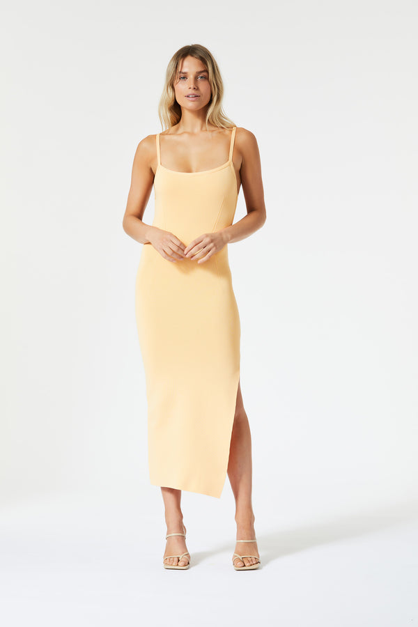 San Sloane Ester Midi Dress Melon
