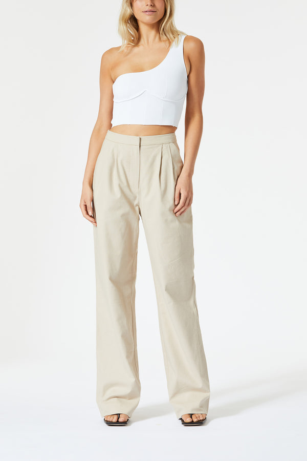 San Sloane Elements High Waist Pant Oatmeal